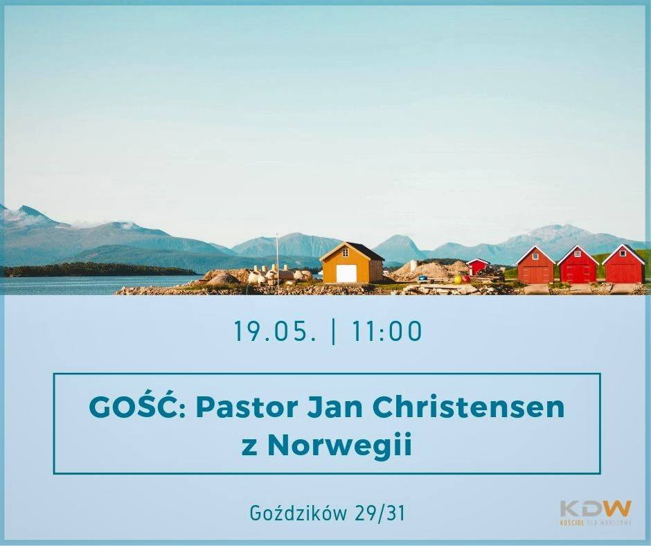 Pastor Jan Christensen z Norwegii